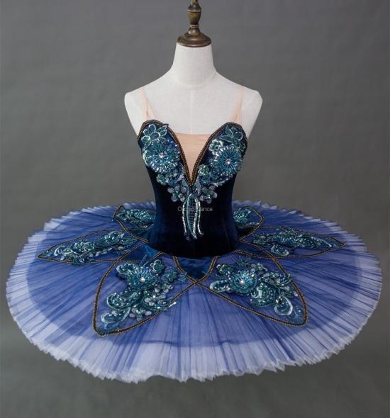 BT00002 Professional Customized Blue Bird Ballet Tutu Costumes