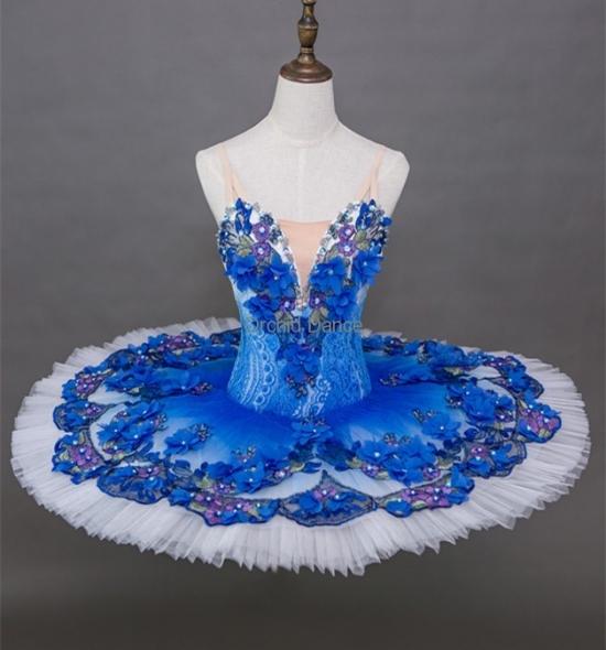 BT00008 Blue Flowers Ballet Tutu