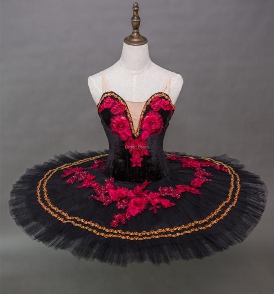 BT00014 Black Red Ballet Performance Tutu
