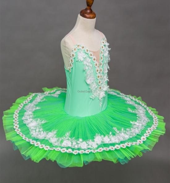 BT00023 Kids Green Cheap Ballet Tutu