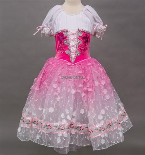 BT00027 Long Romantic Ballet Tutu Dress