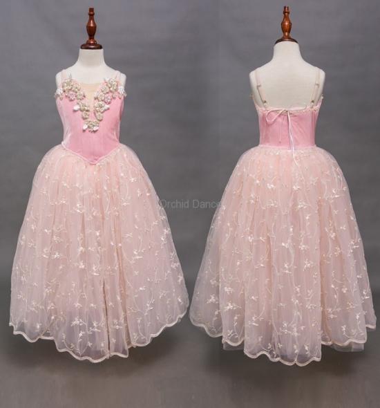 BT00030 Long Romantic Ballet Tutu Dress