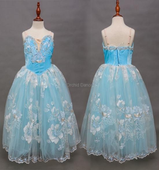 BT00028 Long Romantic Dance Performance Wear Ballet Tutu Dress