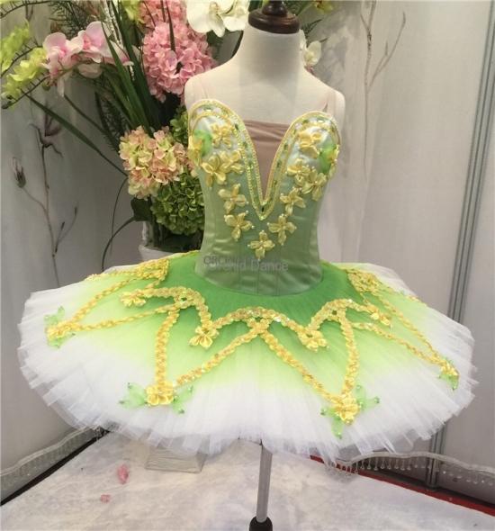 BT00038 Professional Performance Wear Green Ballet Tutu