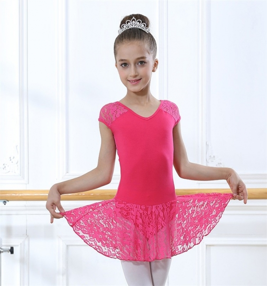 OD-LS101 Girls Leotard with lace skirt